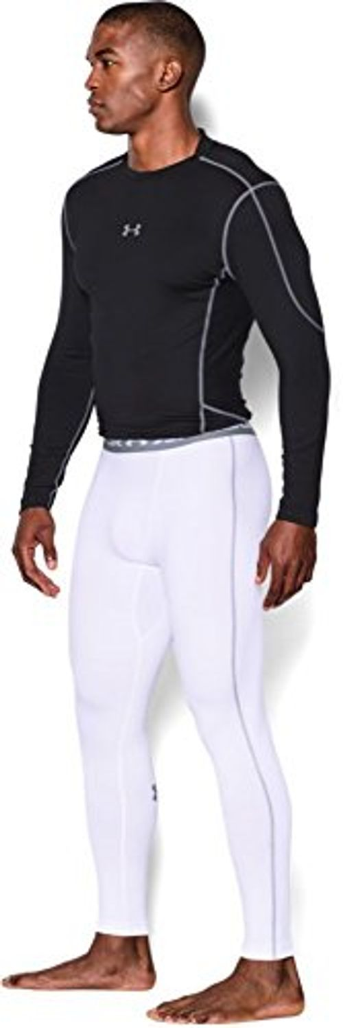 photo Wallpaper of Under Armour-Under Armour Ua Cg Armour Leggings Herren Fitness  -Weiß (White/Steel)