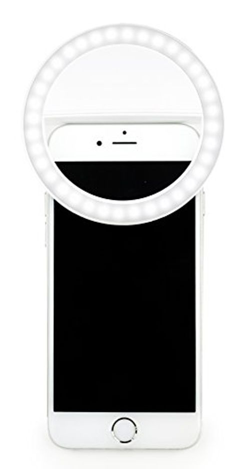 photo Wallpaper of MyGadget-MyGadget Handy Selfie Licht   3 Level Ringlicht USB Aufladbar  -Weiß