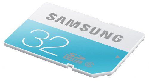 photo Wallpaper of Samsung-Samsung Memory 32GB Standard SDHC Class 6 Speicherkarte Memory Card-Blau, Weiß
