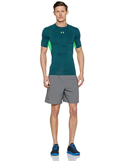 photo Wallpaper of Under Armour-Under Armour Herren Funktionsshirt Heatgear Kurzarmhemd, Tourmaline Teal, LG-Tourmaline Teal