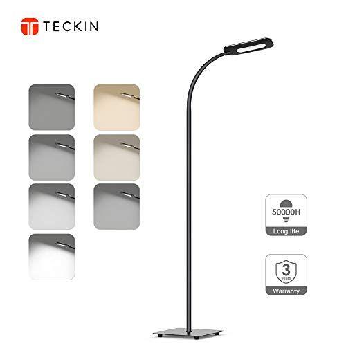 photo Wallpaper of TECKIN-Stehlampe, LED Stehleuchte Dimmbar, TECKIN Lesen Standleuchte Fur Wohnzimme Und Schlafzimmer, Hohe20.000-Schwarz