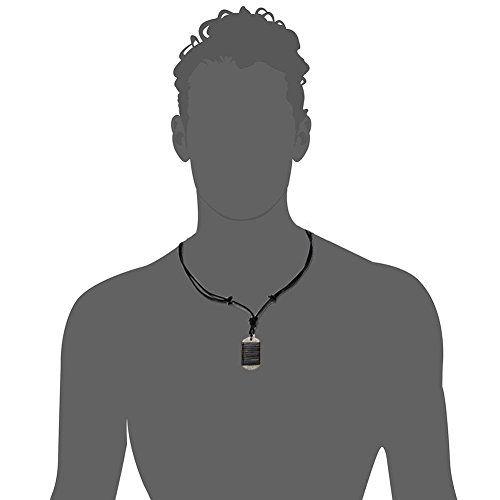 photo Wallpaper of Cupimatch-Cupimatch Erkennungsmarke Im Retro Stil, Legierung, Halsketten Anhänger Für Herren/Jungen Mit Verstellbarer Schwarzer Leder-