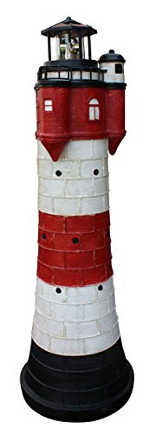 photo Wallpaper of Fachhandel-Plus das Plus für Ihren Einkauf-Leuchtturm Roter Sand Mit Solar Beleuchtung Rundum Leuchtfeuer 80cm Maritime Deko-Mehrfarbig