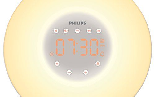 photo Wallpaper of Philips-Philips HF3506/05   Despertador LED Wake Up Light, Función Amanecer, 2 Tonos-plata