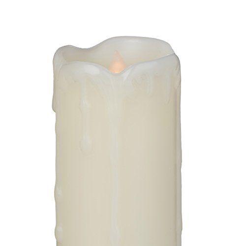 photo Wallpaper of Relaxdays-Relaxdays LED Kerzen Set, 6 Echtwachskerzen Flammenlos, Elektrische Kerzen Flackernd,-Creme