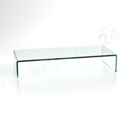 photo Wallpaper of DURATABLE-DURATABLE® TV Glasaufsatz Glastisch LCD Tisch Aufsatz Monitorerhöhung Fernsehtisch Glas Schrankaufsatz Aufsatz Fernseher-transparent