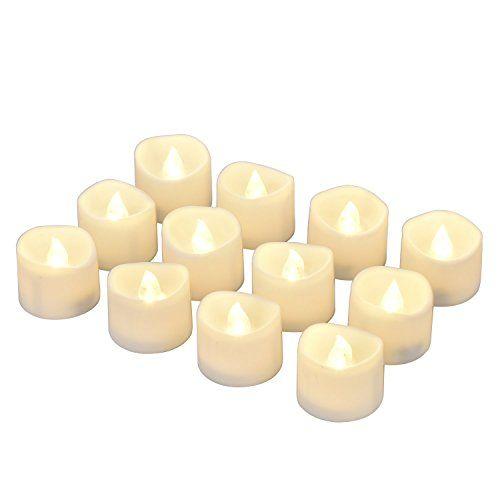 photo Wallpaper of eLander-LED Kerzen, ELander LED Tee Lichter Flammenlose Kerzen Mit Timer, Automatikmodus: 6-mit timer