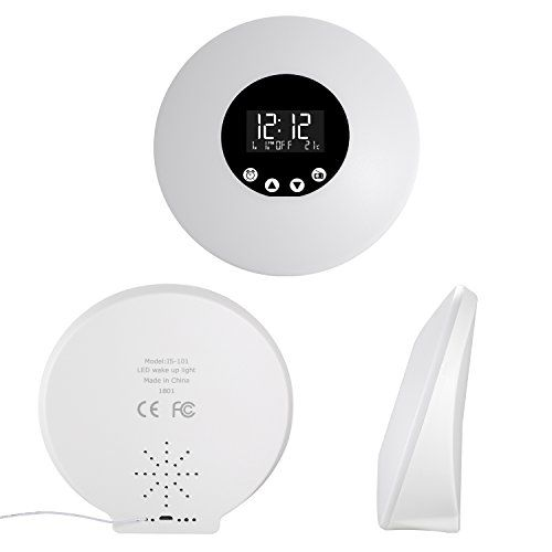 photo Wallpaper of Fitfirst-Fitfirst Reloj Despertador Luz LED Con Control Remoto 9 Colores Ajustables-