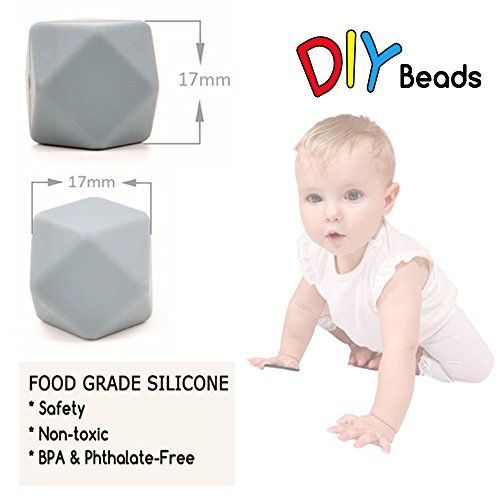 photo Wallpaper of Best for baby-Best For Baby Silikon Beißring (17mm) 10PC BPA Frei Baby Beißring Silikon Achteckige-F-gj118