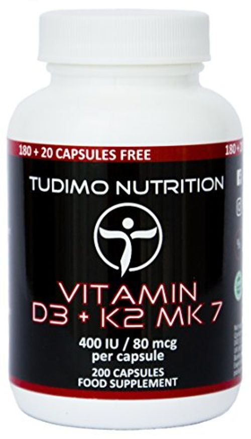 photo Wallpaper of TUDIMO-★ Vitamina D3 Y K2 MK7 ★ 400 UI/80 Mcg – 200 Pzas (6+-