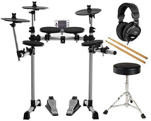 photo Wallpaper of XDrum-XDrum DD 400 E Drum Set Komplettset Mit Kopfhörer, Drumhocker Und Sticks-