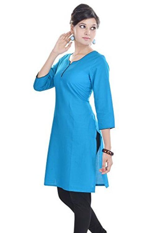 photo Wallpaper of Vihaan Impex-Vihaan Impex Tunika Damen Kleidung Damen Indische Kleidung Kurta Damen Indische Tunika Damen Tunika-Blau