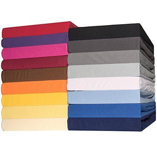 photo Wallpaper of CelinaTex-CelinaTex Topper Spannbettlaken Jersey Baumwolle 90x200 100x200 Cm Spannbetttuch Für Boxspringbetten Topper-Silber-grau