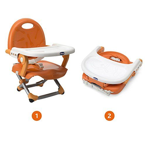 photo Wallpaper of Chicco-Chicco Pocket Snack   Elevador Regulable En 3 Alturas, 2-Naranja