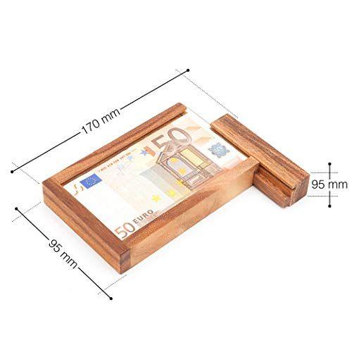 photo Wallpaper of Casa Vivente-Casa Vivente – Magische Geldgeschenkbox – Knobelspiel Aus Holz –-braun