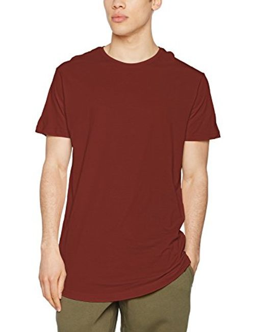 photo Wallpaper of Urban Classics-Urban Classics Herren T Shirt Shaped Long Tee, Orange (Rusty), TB638, M-Orange (Rusty)