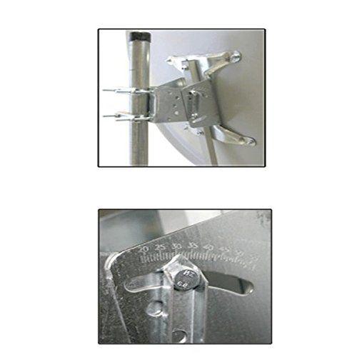 photo Wallpaper of PremiumX-100cm Digitale SAT Anlage ANTENNE Spiegel Schüssel In Hellgrau + SINGLE LNB FULLHD Edision-Hellgrau
