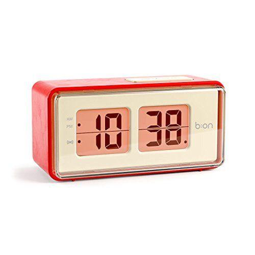 photo Wallpaper of balvi-Balvi B:ON FlipDigital Flip Stil Wecker. LCD Bildschirm Reproduziert Die Bewegung Eines Flip Uhr.-Rot