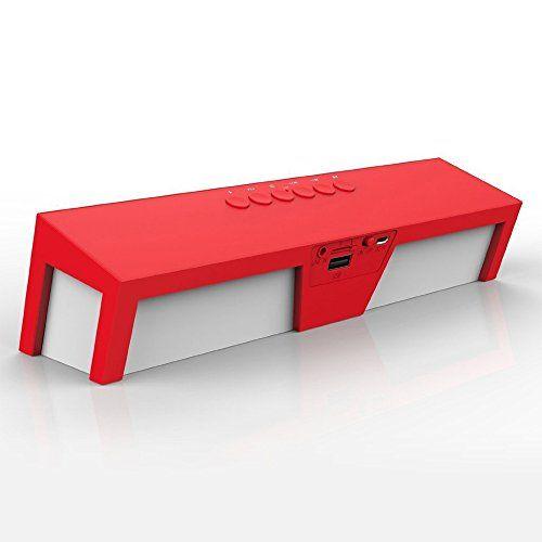 photo Wallpaper of arVin-Bluetooth Lautsprecher, Megadream® Soundbar PC Lautsprecher Portable Wireless Speaker Stereo Musik-Rot mit Weiß