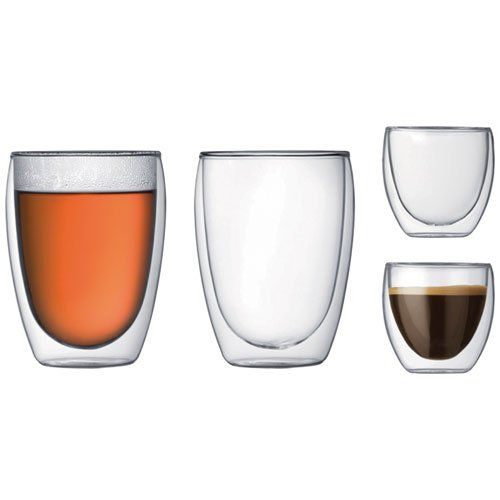 photo Wallpaper of Bodum-Bodum K4557 10 Set Doppelwandige Gläser ,( 2 Stücke 0,08 L Und 2 Stücke-Transparent