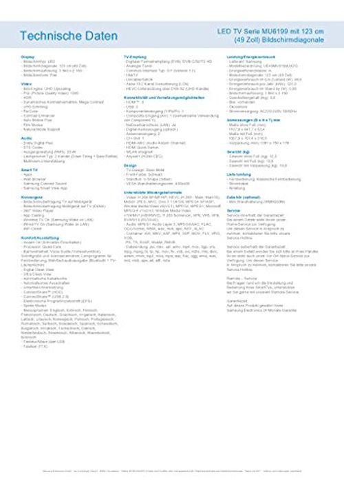 photo Wallpaper of Samsung-Samsung MU6199 123 Cm (49 Zoll) Fernseher (Ultra HD, HDR, Triple Tuner, Smart TV)-Schwarz