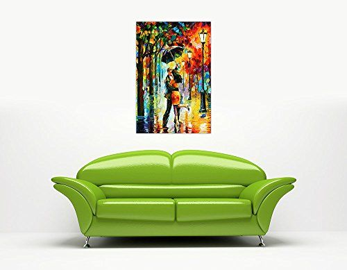 photo Wallpaper of CANVAS IT UP-New Dance Unter Der Von Leonid Afremov Auf Leinwand Abstrakt Bild Wand Drucke Modern-