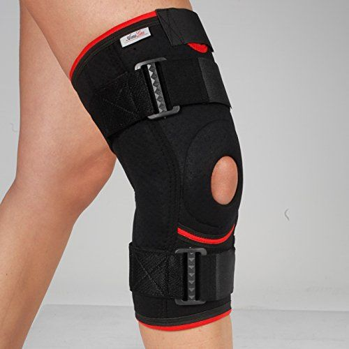 photo Wallpaper of ArmoLine-Ligamentos De La Rodilla Apoyo Largo – Open Patella – Brace – Correa De Neopreno Ajustable Artritis Guardia – Luz Tendón-Negro