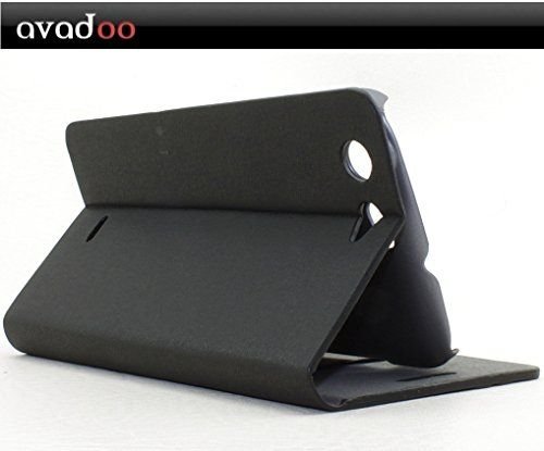 photo Wallpaper of avadoo®-Avadoo® Wiko Stairway Flip Case Cover In Schwarz/Rot Mit Magnetverschluss-Schwarz/Rot