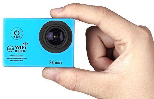 photo Wallpaper of IceFox-Action Cam, Icefox ® Wasserdichte Wi Fi Action Kamera, 12-Blau