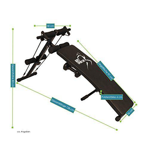 photo Wallpaper of Art Sport-Bauchtrainer Profi Gym 750   Klappbare Sit Up Bank Mit Beinfixierung-