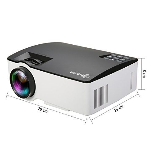photo Wallpaper of EIVOTOR-Video Beamer, EIVOTOR LED Beamer Multimedia Heimkino 800x480 LCD Projector Unterstützt-schwarz