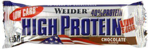 photo Wallpaper of Weider-Weider 40% High Protein Low Carb Bar, 24 Barritas De-