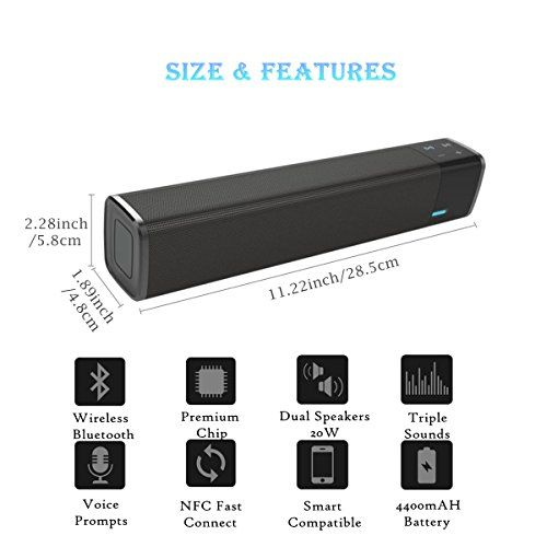 photo Wallpaper of MENGGOOD-Bluetooth Lautsprecher , MENGGOOD Wireless Speaker Kabelloser HIFI Subwoofer NFC Soundbar Dual-