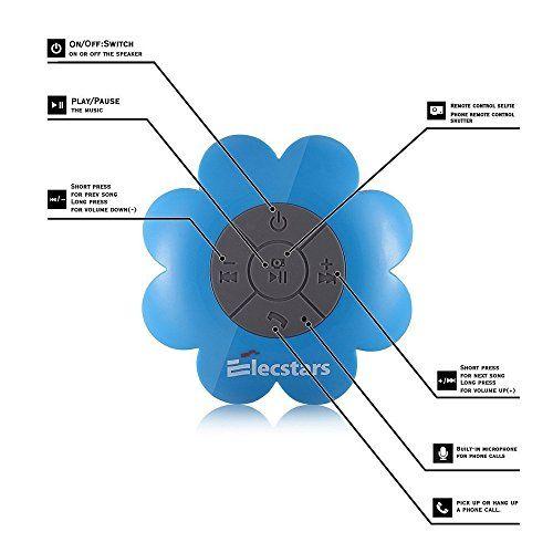 photo Wallpaper of Elecstars-Dusche Lautsprecher   Elecstars Wireless Bluetooth Lautsprecher Mit Starker Saugnapf, Portable/Wasserdichter/Mini, Geeignet-blau