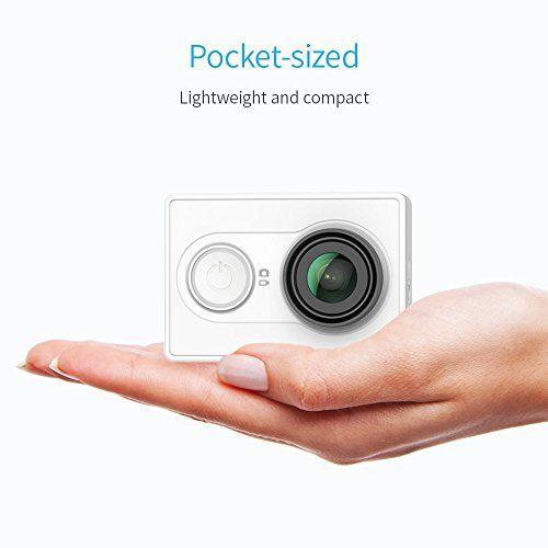 photo Wallpaper of YI Technology-YI Action Kamera Gebündelt Mit Wasserfestem Gehäuse 16MP 2K 1080P/60fps Mit 2.4G WIFI Bluetooth-Weiß