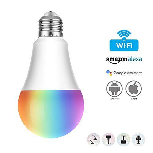 photo Wallpaper of AUSEIN-WiFi Bulb Intelligente Bunte LED Lampe Dimmbare 650 Lumen Kugelförmige Lampe Entspricht-Warm Weiß