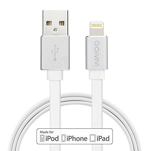 photo Wallpaper of GGMM-[Apple MFI Zertifiziert] GGMM® Lightning Kabel Syncwire Datenkabel Ladekabel Dauerhaftes Flachkabel Mit Aluminiumgehäuse 3.3ft.-Lightning-Weiß