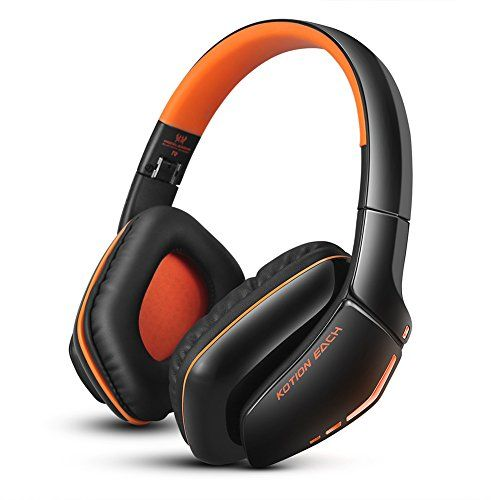 photo Wallpaper of Combaterwing-Bluetooth Headset V4.1, KOTION EACH B3506 NFC Stero Wireless Gaming Kopfhörer Mit Mic-Orange