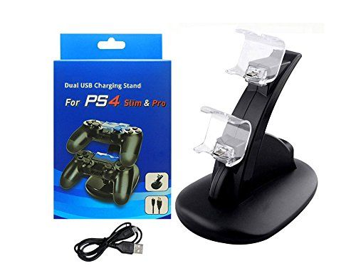 photo Wallpaper of HUACAM-HUACAM PS4 Controller Ladestation Charger, Ladegerät Stand Mit USB Kabel Für-
