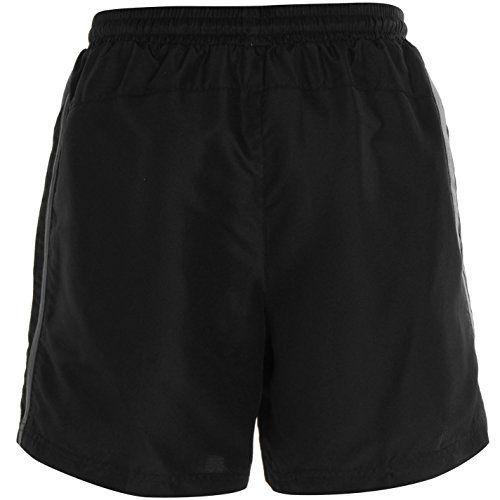 photo Wallpaper of Lonsdale-Lonsdale Two Stripe Woven Herren Shorts Sporthose Kurze Hose Elastische Bund-Black/Charcoal
