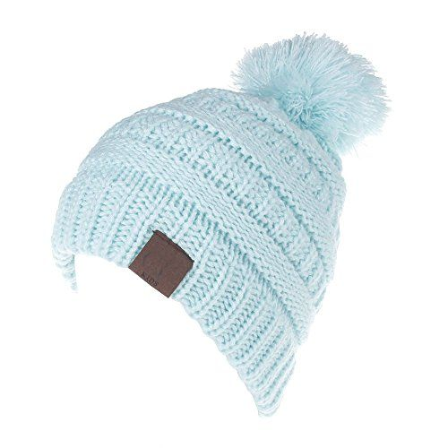 photo Wallpaper of mioim-MIOIM Baby Strickmützen Gestrickt Warme Winter Mütze Hut Beanie Kleinkind-Blau
