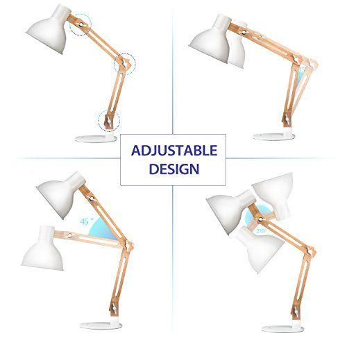 photo Wallpaper of Tomons-Tomons LED Leselampe Im Klassichen Holz Design, Schreibtischlampe, Tischleuchte, Verstellbare Schreibtischlampe, Lampe-Weiß
