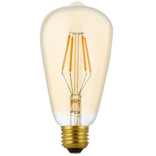 photo Wallpaper of ITALASA-4 Pack Dimmbare LED E27 4W ST64 Filament Glühbirne Edison Vintage Glühlampe Lampe-St64 4w Dimmbar