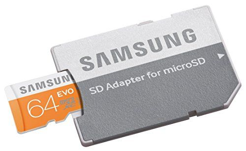 photo Wallpaper of Samsung-Samsung 64GB MicroSDXC 64GB MicroSDXC UHS I Klasse 10 Speicherkarte  -Orange, Weiß