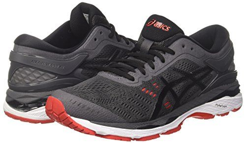 photo Wallpaper of Asics-Asics Herren Gel Kayano 24 Laufschuhe, Grau (Dark Grey/Black/Fiery Red-Grau (Dark Grey/Black/Fiery Red 9590)