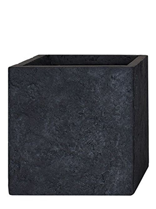 photo Wallpaper of Pflanzwerk-PFLANZWERK® Pflanzkübel CUBE Lava Anthrazit 30x34x34cm Blumentopf *Frostbeständig* *UV Schutz* *Qualitätsware*-Lava Anthrazit