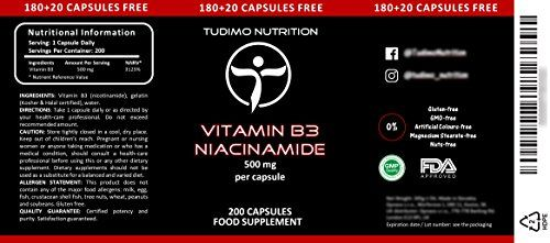 photo Wallpaper of TUDIMO-★ Vitamina B3 ★ 500 Mg De Nicotinamida – 200 Pzas-