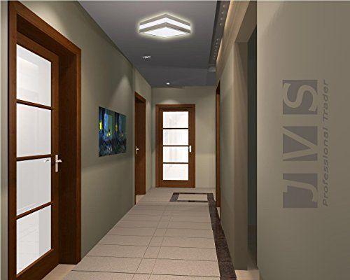 photo Wallpaper of JVS-PROVANCE IP44 E27 Decken Wandleuchte Deckenlampe Wandlampe Für LED & ESL (Quadratisch, 2x E27-Quadratisch