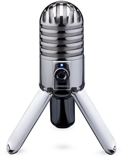 photo Wallpaper of Samson-Samson Meteor Mic USB Studio/Podcast Mikrofon Silber-silber