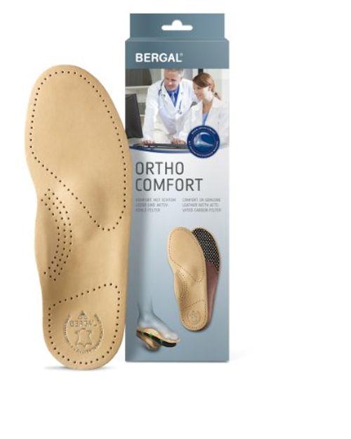 photo Wallpaper of Bergal-Bergal Ortho Comfort Einlegesohlen Fußbett Mit Echtem Leder Damen Gr. 39-Braun
